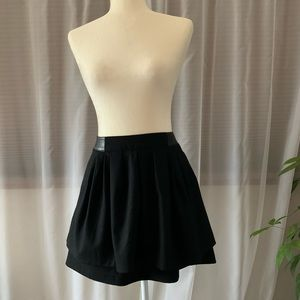 H&M High Waist Black layered circle skirt, size 4